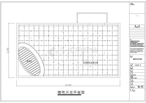 某酒吧装修设计平面CAD施工图-图一