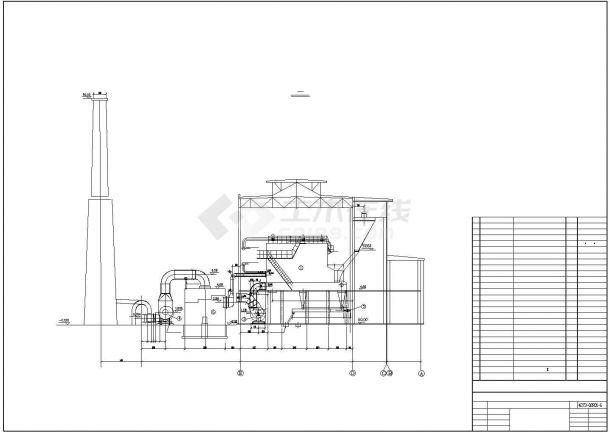 某集中供热锅炉房主体设计图纸-图一