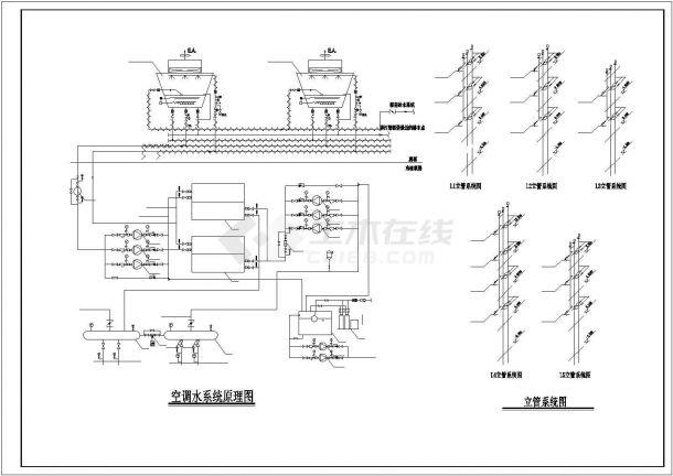 [抚顺]某商贸城通风空调工程施工设计图纸-图一