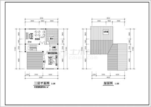 淮安市教育建筑设计CAD施工图纸-图一