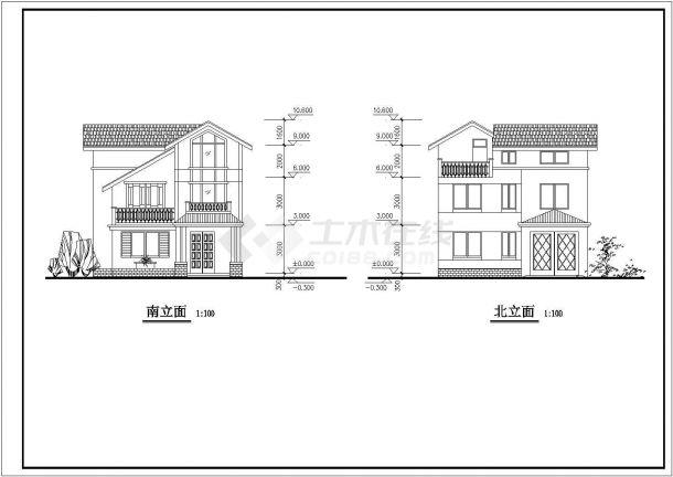 淮安市教育建筑设计CAD施工图纸-图二