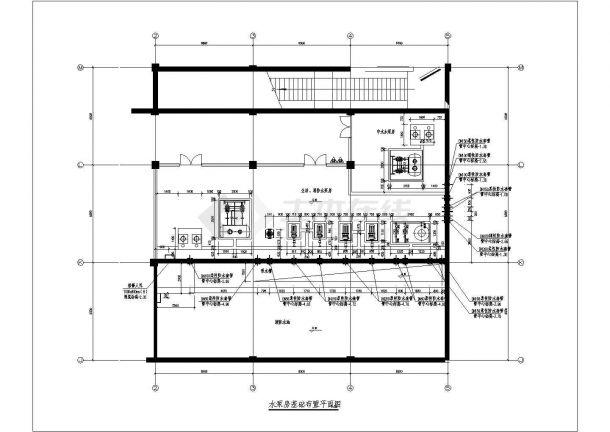 建筑给排水消防泵房、屋顶水箱、人防水箱设计图-图一