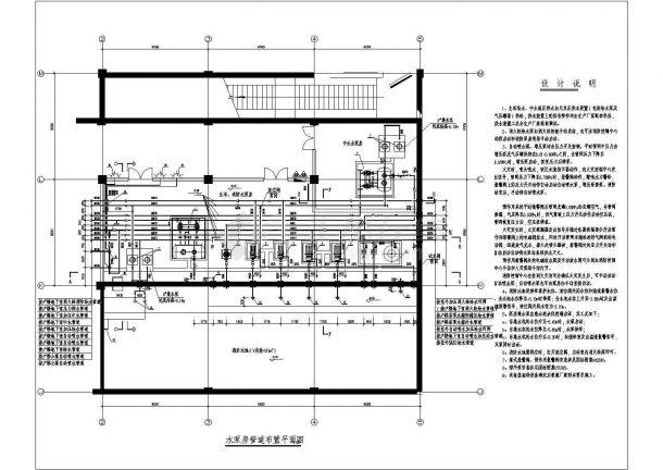 建筑给排水消防泵房、屋顶水箱、人防水箱设计图-图二