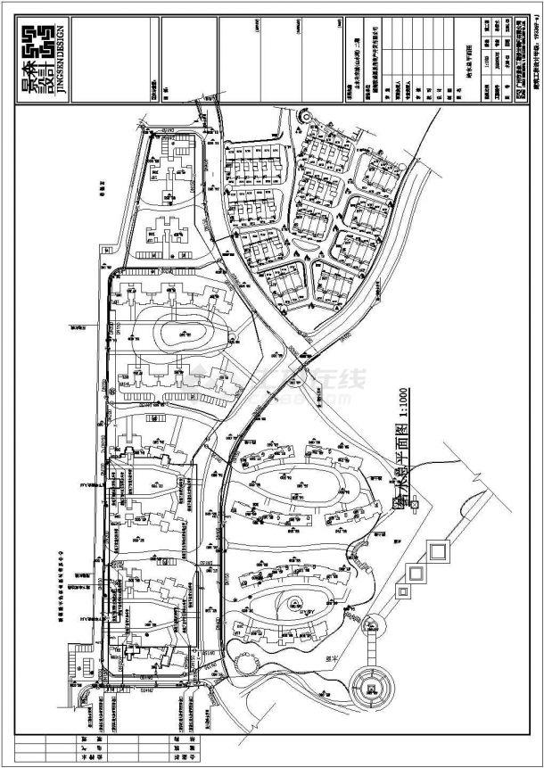 某住宅小区室外建筑给排水工程设计图-图二