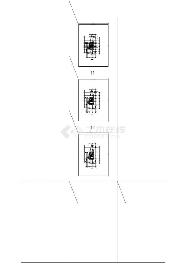 北京一类高层建筑给排水图纸-图一