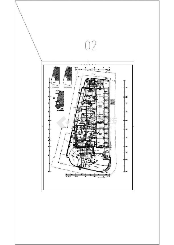 北京一类高层建筑给排水图纸-图二