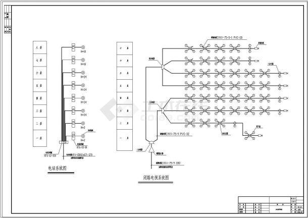 酒店电气设计图纸(约30张)-图二