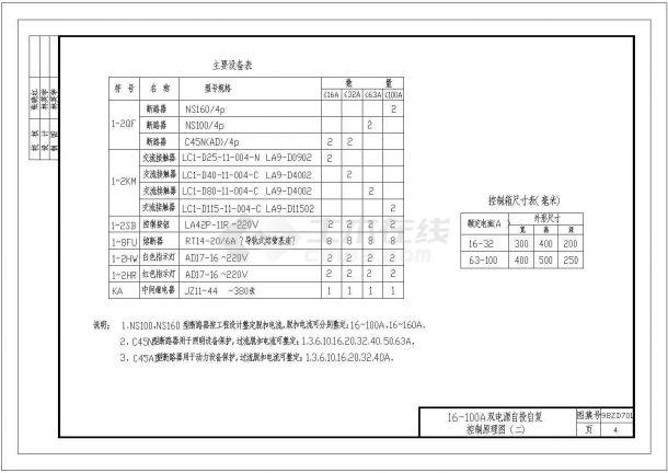 中南标准常用电气控制原理图98ZD701-图二