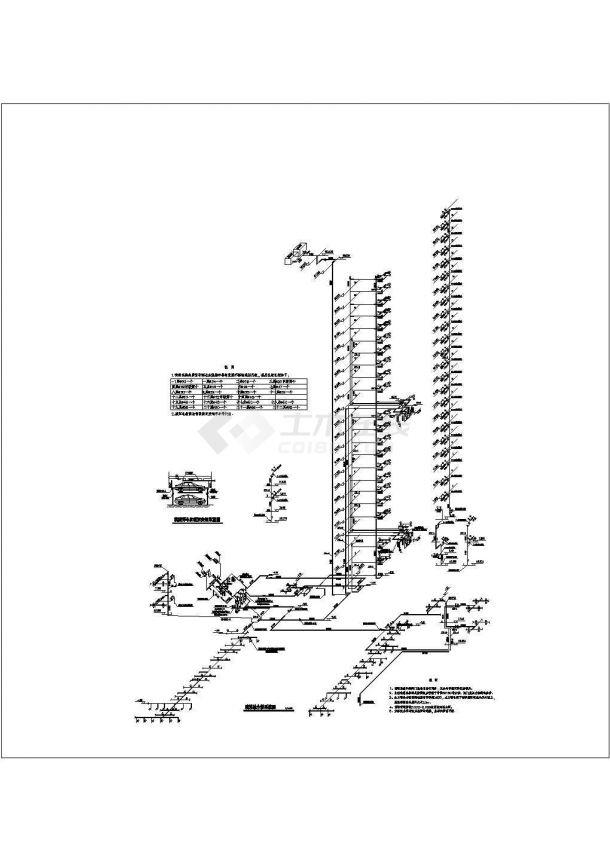 上海某高层建筑给排水成套图纸-图一