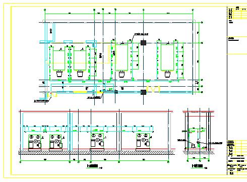 地下锅炉房工艺设计及管道布置图-图一