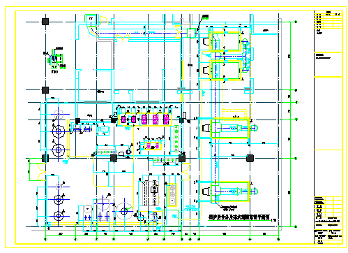 地下锅炉房工艺设计及管道布置图-图二