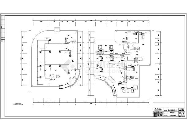 武汉市五层综合办公楼多联机空调设计图-图一