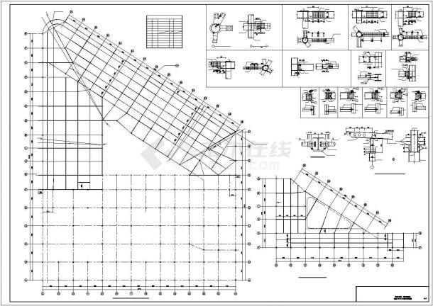 大型综合楼型钢混凝土结构施工图-图一