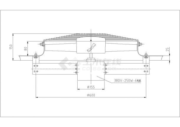 某铸造车间环保空调设计cad施工图-图一