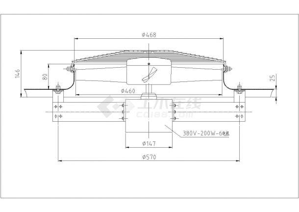 某铸造车间环保空调设计cad施工图-图二