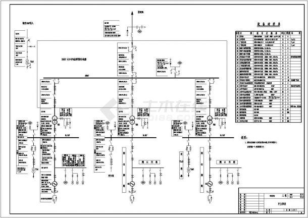 武都水库初步设计电站GIS和变压器电气布置图-图一