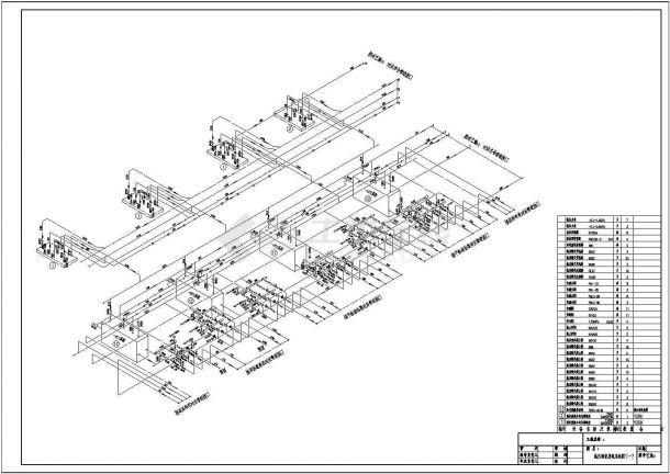 大型冷库氨制冷系统轴测图含设备明细表-图一