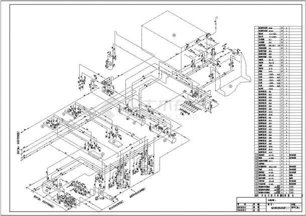 大型冷库氨制冷系统轴测图含设备明细表-图二