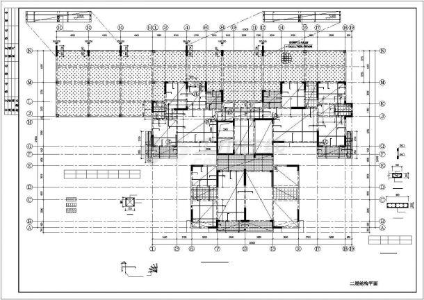 [城市印象]18层剪力墙结构住宅结构图-图二