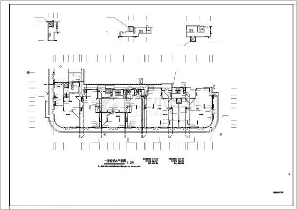 广西某十一层小高层住宅给排水图纸-图二