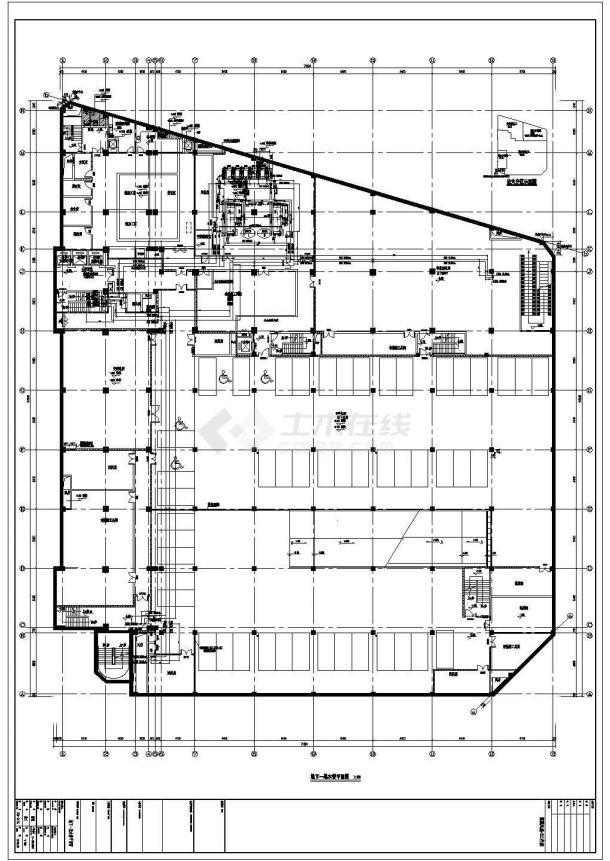 综合楼直燃型溴化锂机组空调、地下机械通风设计图-图一