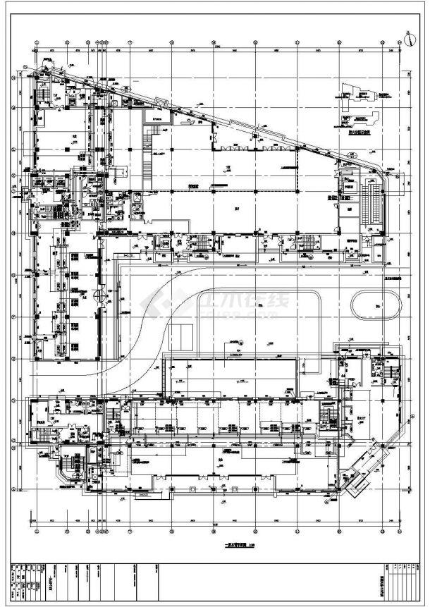 综合楼直燃型溴化锂机组空调、地下机械通风设计图-图二
