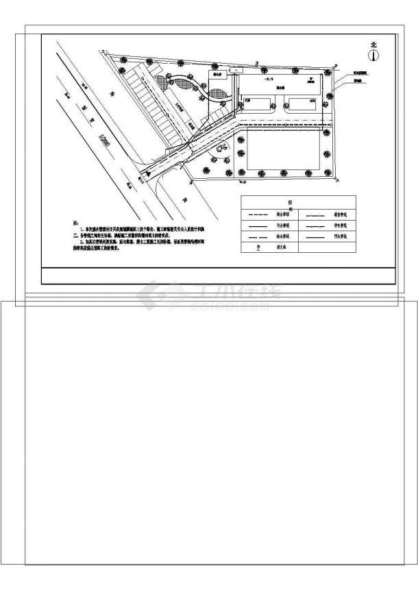 [安徽]小型服务部办公楼给排水施工图(冷凝水管线综合设计)-图一