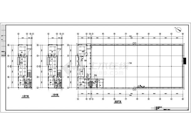 北京某2735.96平方米三层单层钢结构工业园区厂房电气设计图纸-图二