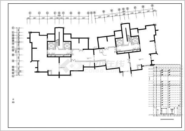 某二十七层钢筋混凝土剪力墙结构商住全套楼电气工程(一类普通高层住宅建筑)-图一