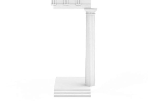 欧式罗马柱3D模型下载-图一