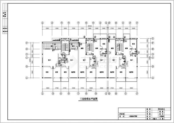 四层集中住宅楼地板辐射采暖系统设计施工图(含给排水设计)-图二