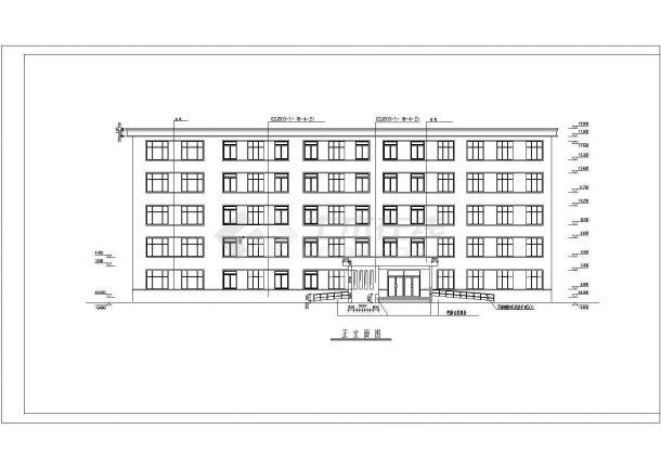 一栋五层的中小学教学楼建筑方案设计图片