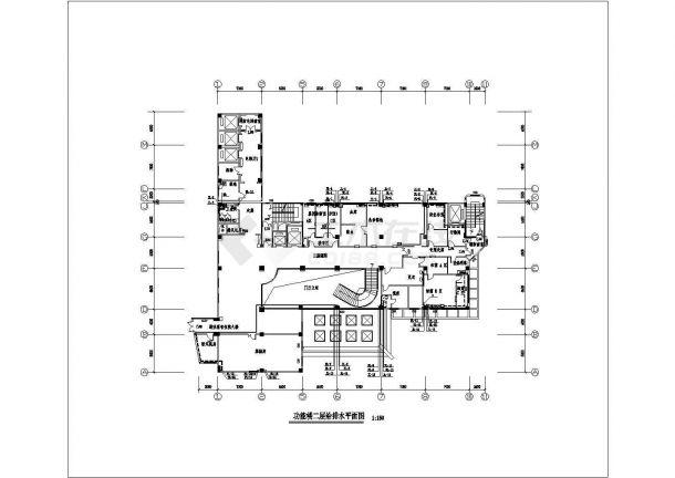 某13000㎡十三层医院综合楼给排水图纸-图一