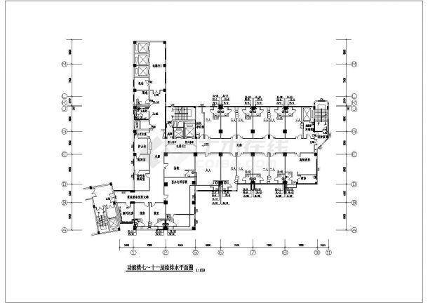 某13000㎡十三层医院综合楼给排水图纸-图二