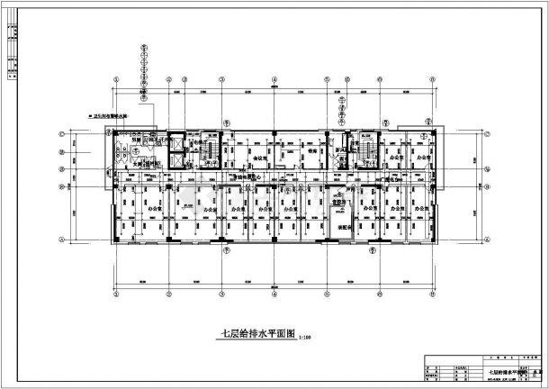 某11600m2高层新闻大楼建筑给排水图纸-图一