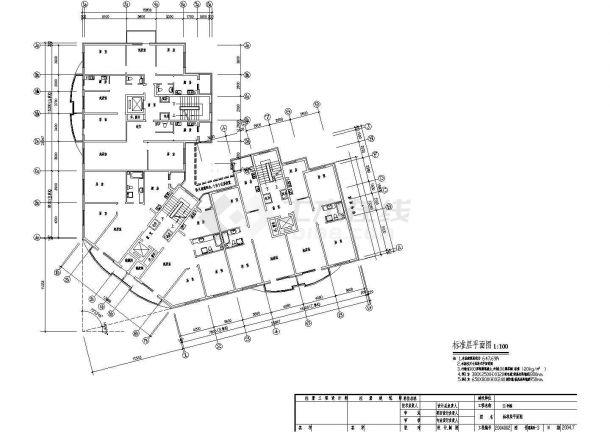 八层办公楼地板辐射采暖系统设计施工图-图二