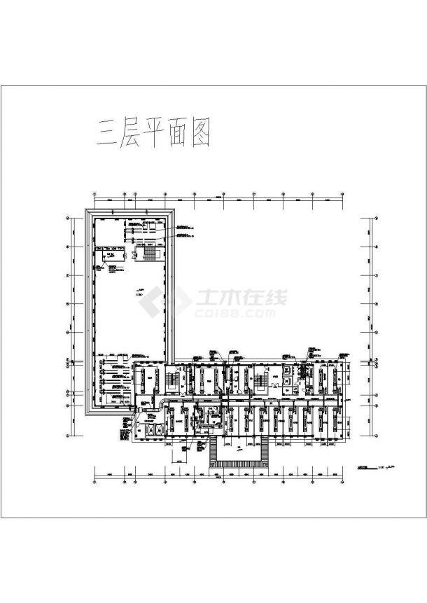 [安徽]16082㎡九层综合办公楼多联机空调及通风排烟88必发手机版登录设计施工图-图一