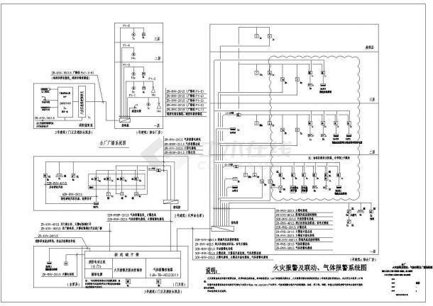 苏州某船用设备公司厂房智能化弱电系统施工图-图一