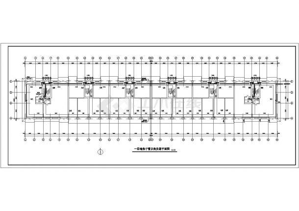 [黑龙江]六层小型住宅楼地板辐射采暖系统设计施工图-图一