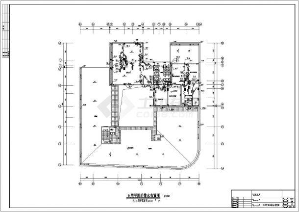 [武汉]某25层商住小区给排水施工图-图一