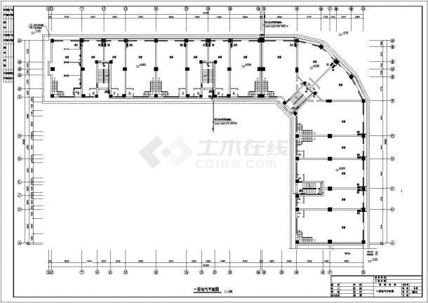 某地上六层商住楼电气图纸(三级负荷,第三类防雷)-图一