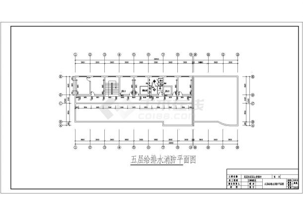 五层洗浴中心建筑给排水图纸-图二