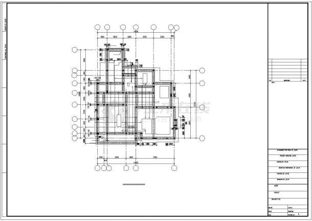 某三层框架结构别墅(A4型)全套建筑图纸-图二