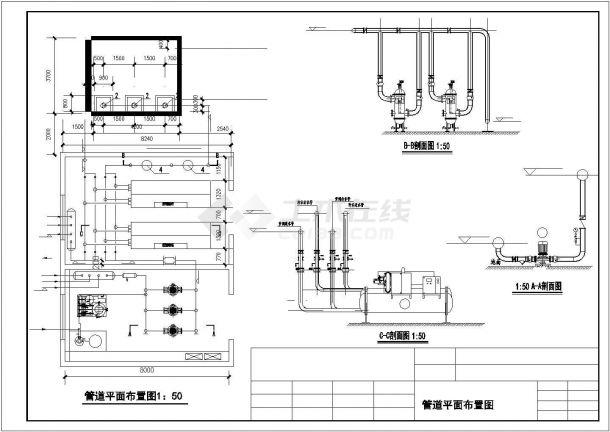 经典空调机房暖通施工图-图二