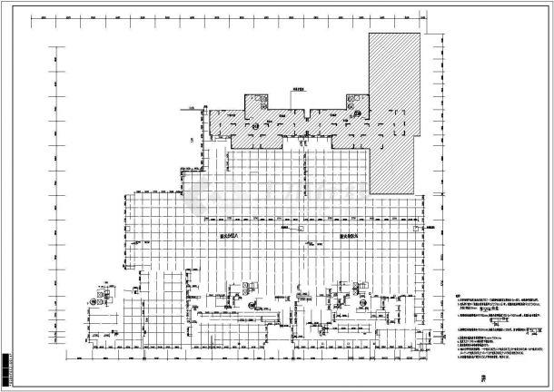 某小区地下室给排水全套图纸(含设计说明)-图一