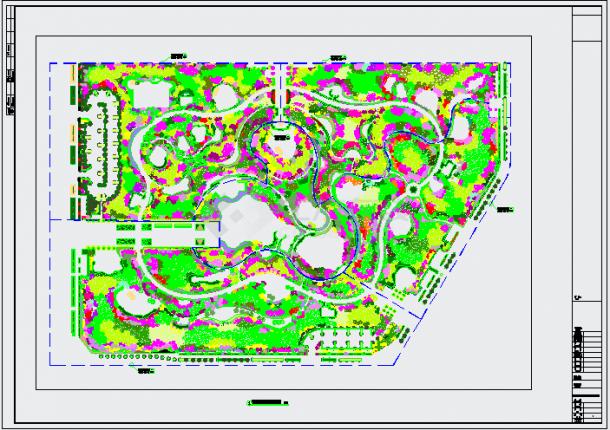 某现代居住区景观规划设计施工图纸-图二