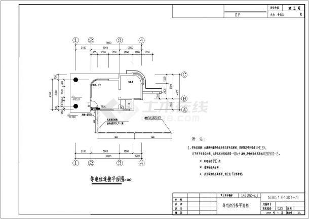 某厂区三层厂房电气设计图纸,共24张图-图一