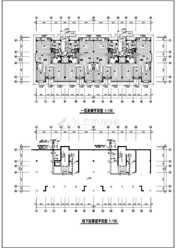 某住宅小区11#楼地暖设计施工图-图二