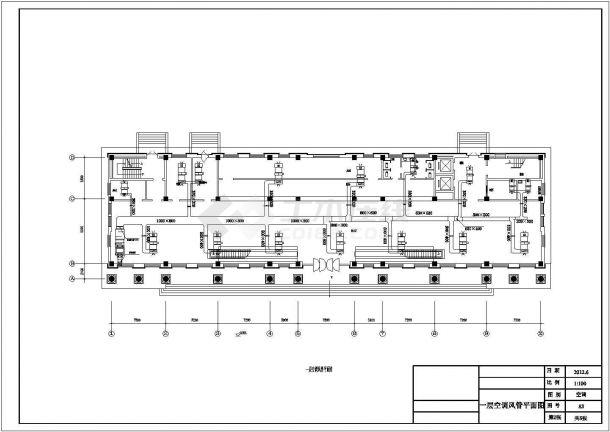 【广州】8312㎡八层综合办公楼空调设计施工图-图二