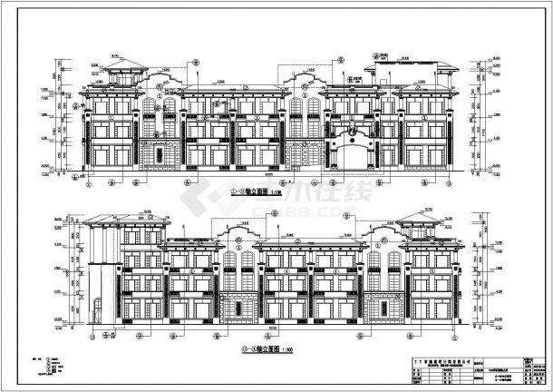 某地三层框架结构幼儿园建筑设计施工图-图一